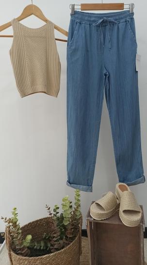 Pantalon cintura elastico