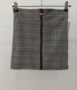 Mini falda cuadros cremallera