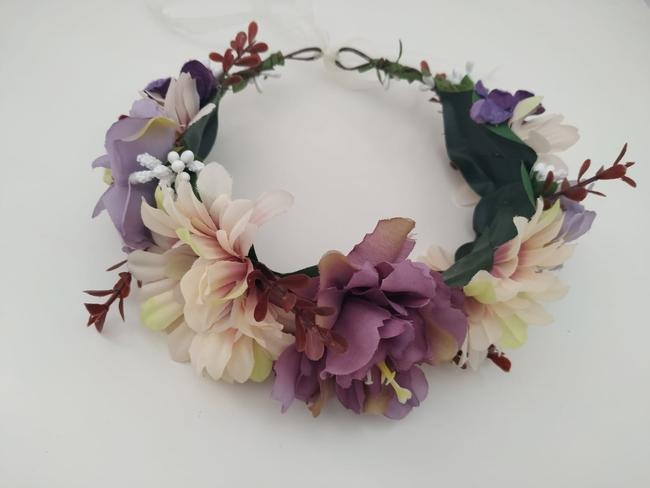 Corona de flores Ref. 05 tonos malva, rosa y morado