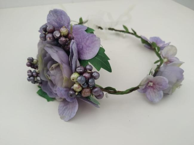 Corona de flores Ref. 06 tonos malva