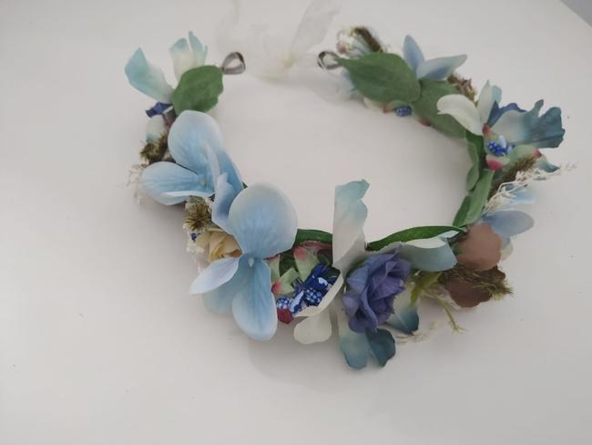 Corona de flores Ref. 012 tonos azules