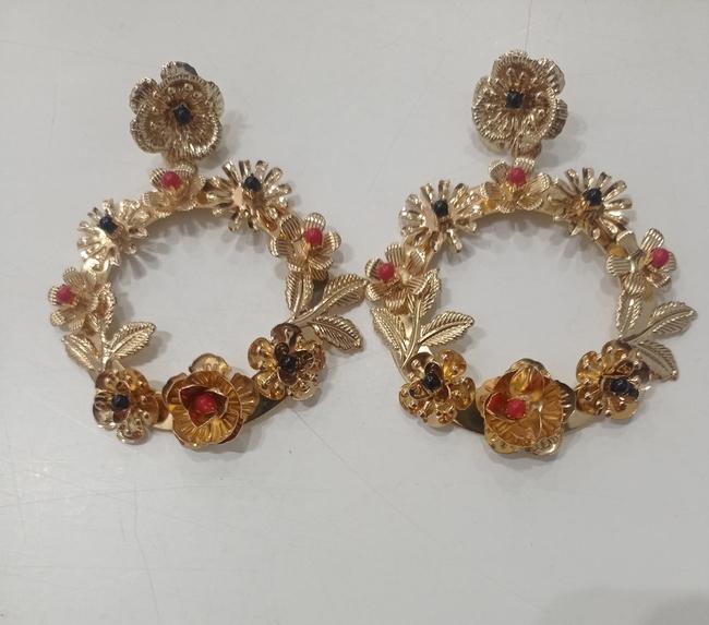 Pendientes flamenca metál dorado