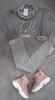 Sudadera gris cuello terciopelo