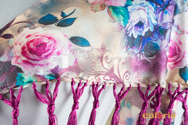 Mantoncillo de flamenca estampado Ref. 48