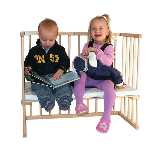 Sofá Niños Babybay Cuadrada Haya Natural