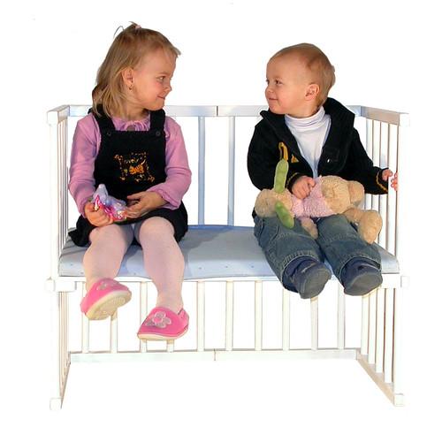 Sofá Niños Babybay Cuadrada Blanca