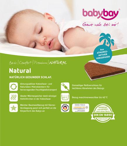Colchón Natural para Cuna Colecho Babybay Maxi, Boxspring y Confort Plus