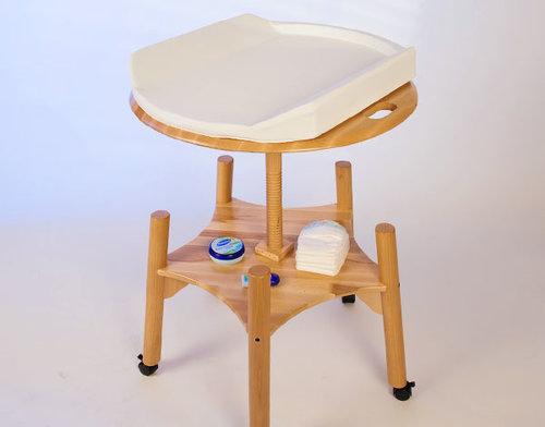 Cambiador de bebé móvil y regulable BabyTwist de Babybay