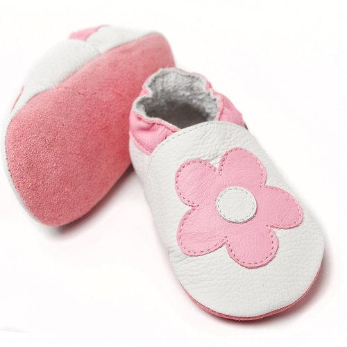Zapato Blando Flores Rosas