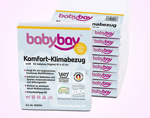 COMBO DOS SON MULTITUD! Pack cuna BabyBay Maxi + Cojín Lactancia Gemelar