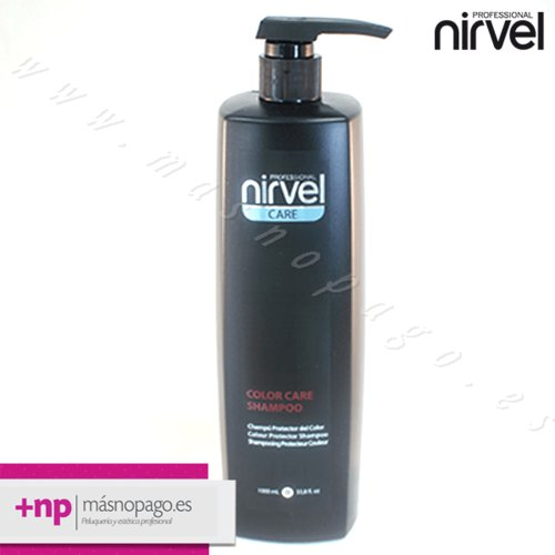 Champu para cabellos Teñidos Nirvel 1000 ml.
