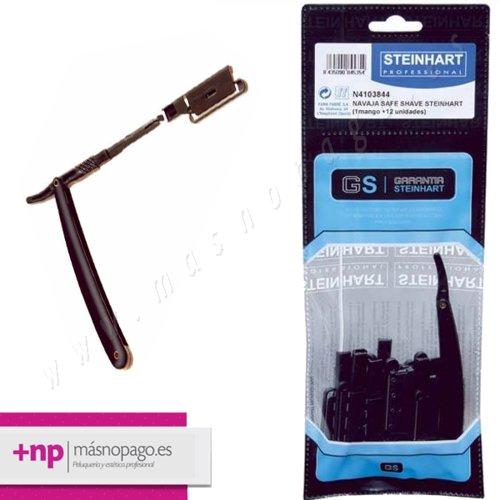 Navaja Safe Shave Steinhart - 1 Mango + 12 Unidades