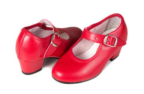 Zapatos rojo de gitana para niña