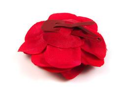 Flor flamenca de clip roja para el pelo MiBebesito