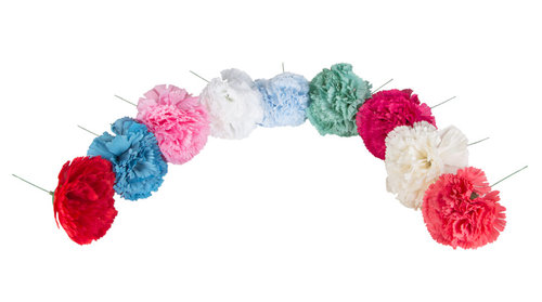 Flor estilo clavel para niña