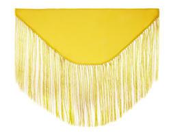 Mantoncillo de flamenca amarillo liso - MiBebesito
