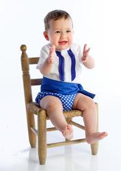 Ranita flamenca para niño compuesto por camisa con chorreras, ranita y fajín a juego rnt400 MiBebesito