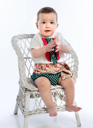 Ranita flamenca para niño compuesto por camisa con chorreras, ranita y fajín a juego rnt405 MiBebesito modelo