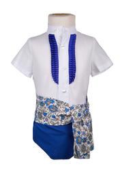 Ranita flamenca para niño azul eléctrico
