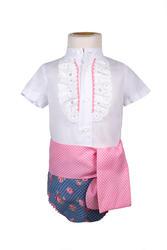 Ranita flamenca para niño azul y rosa