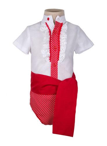 Ranita flamenca para niño roja