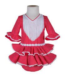 Traje de flamenca de bebé rojo