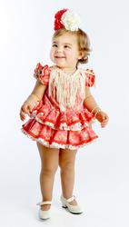 Traje de gitana flamenca para bebe con braguita cubrepañal a juego bb407 MiBebesito modelo