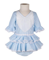 Traje de flamenca de bebé celeste