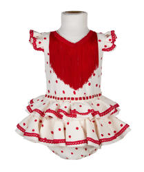 Traje de flamenca para bebé BEIGE