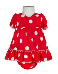 Traje de flamenca para bebé crespón rojo