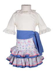 Traje de gitana para niña de camisa y falda
