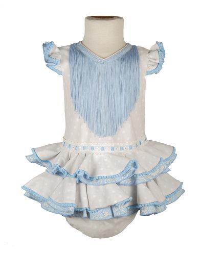 Traje de flamenca de bebé beige