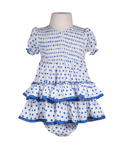 Traje de flamenca para bebé crespón
