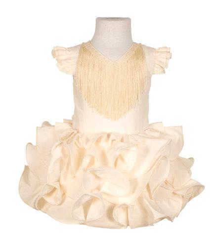 Traje de flamenca niña básico beige