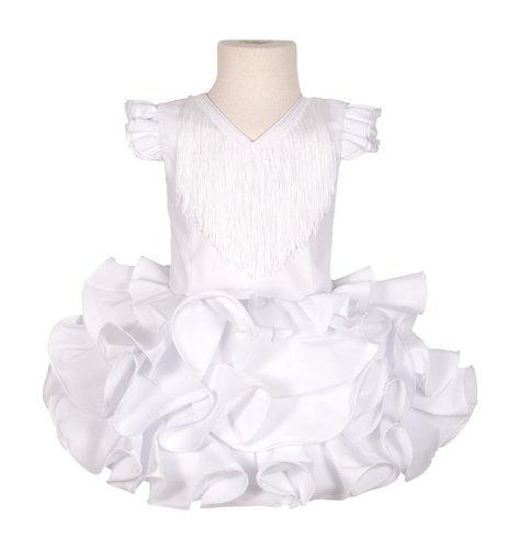 Traje de flamenca niña básico blanco
