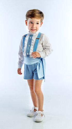 Traje de gitano para niño azul