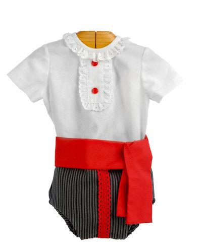 Ranita flamenca para niño estilo campero