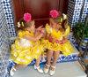 Traje de gitana para niña popelín amarillo MiBebesito