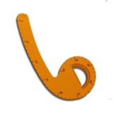 6045B  Regla acrilica color Curva 45 cm