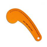 6132B  Regla acrilica color Curva 32 cm
