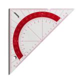T010  Regla acrilica transparente Triangular