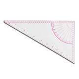 T036  Regla acrilica transparente Triangular