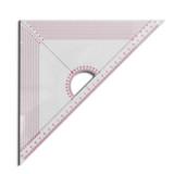 T045  Regla acrilica transparente Triangular