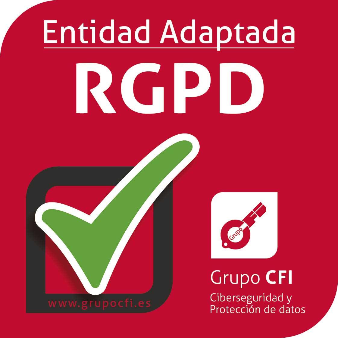 Entidad Adaptatada RGPD