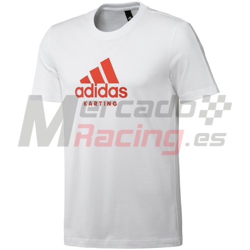 Adidas® Karting T-Shirt WHITE/RED