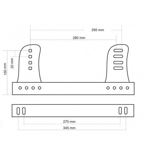 Fijación lateral de baquet Regulable Brave Acero B1