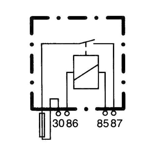 Relé de 12v con fusible incorporado