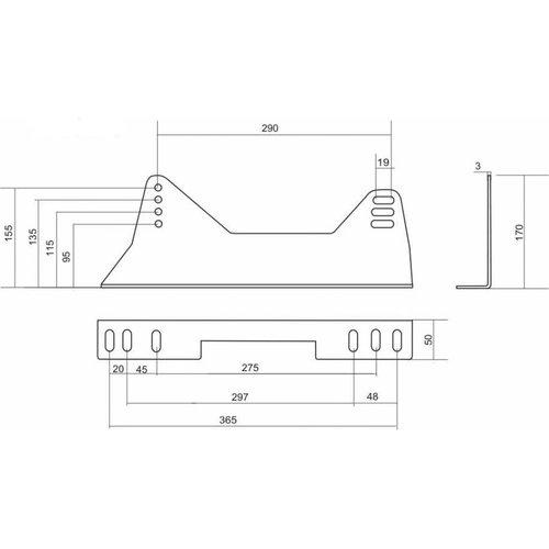 Fijación lateral de baquet Brave Acero Alta B5