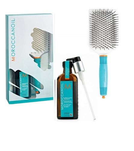 Tratamiento Moroccanoil y Paddle Brush