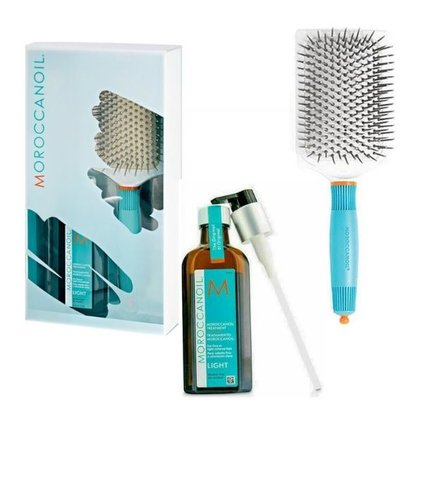 Tratamiento Moroccanoil Light y Paddle Brush
